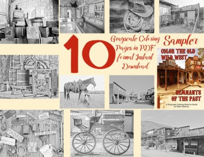 coloring books for men old wild west
