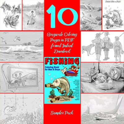 fishing coloring book for boys