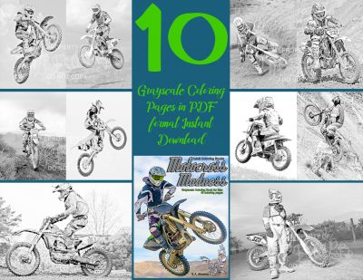coloring pages motocross