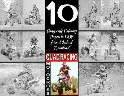 coloring pages quad racing