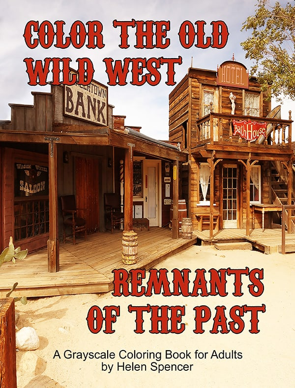 old wild west coloring book for adults by helen spencer