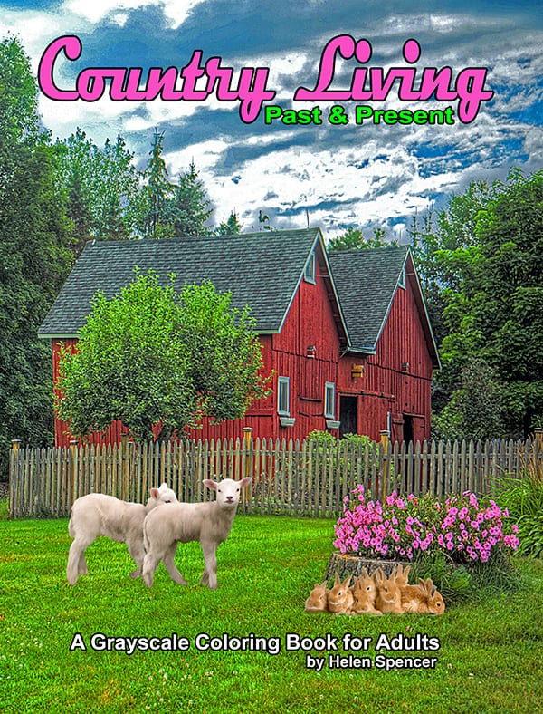 country living adult coloring book by helen spencer