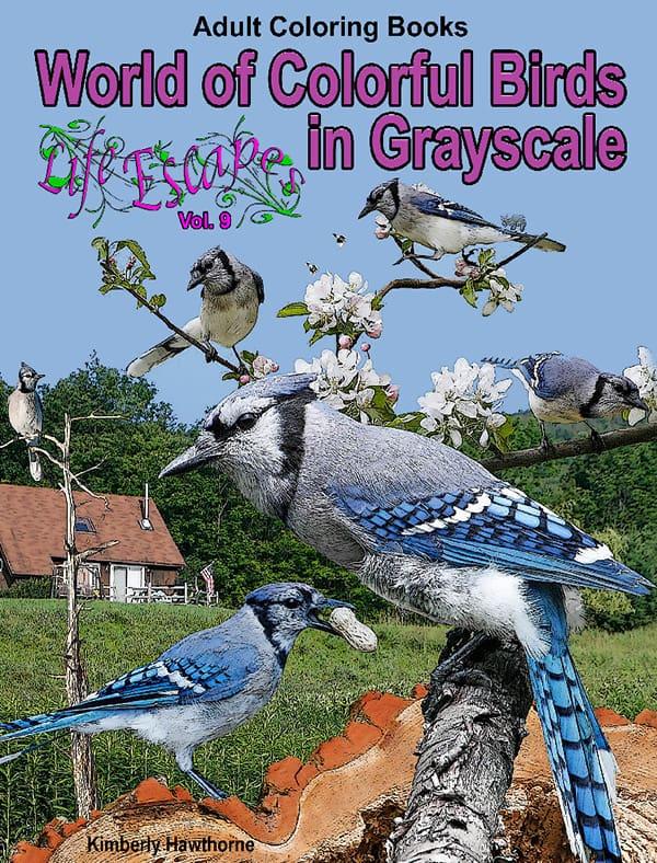 Life Escapes Adult Coloring Books Vol. 9 Colorful Birds