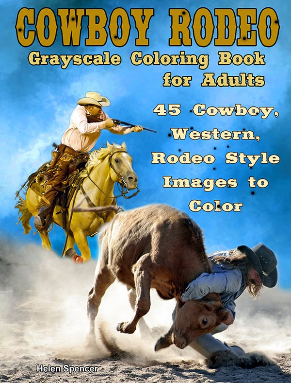 cowboy rodeo adult coloring book by helen spencer