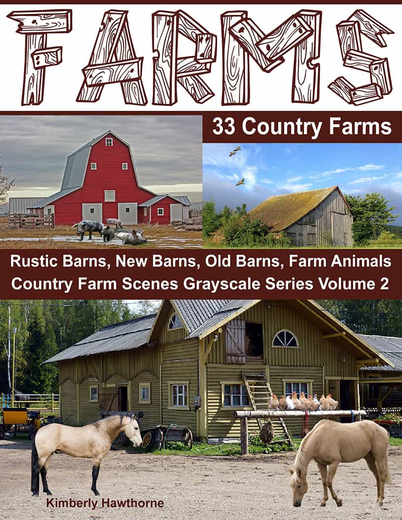 adult coloring book farms
