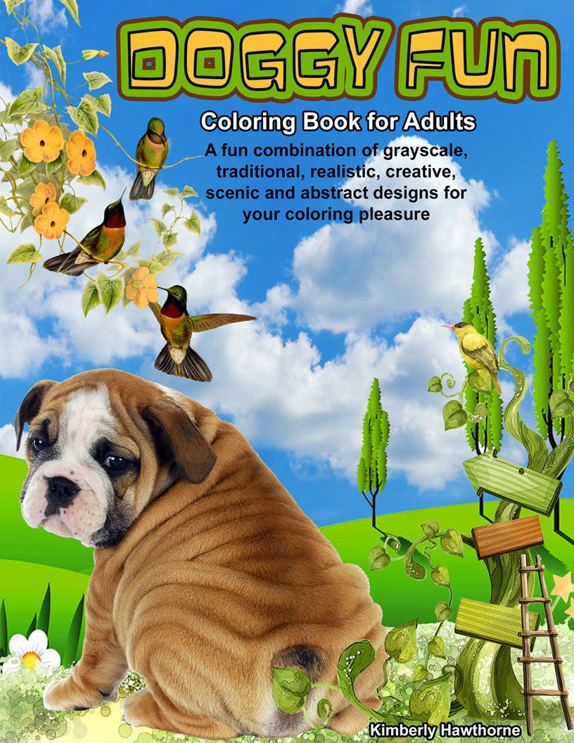 Doggy Fun Coloring Book For Adults