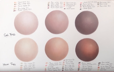 cool and warm skin palette