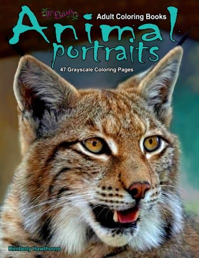 Animal Portraits adult coloring book