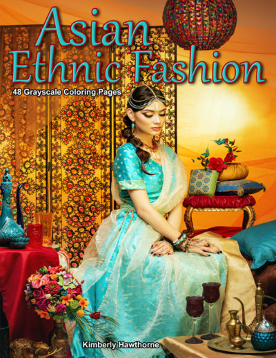 Asian Ethnic Fashion adult coloring book pdf