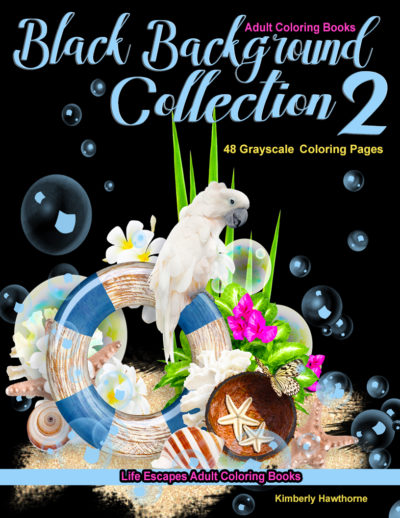 Black Backgrounds Collection 2 adult coloring book pdf