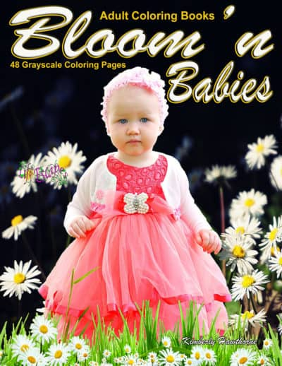 Bloom n Babies adult coloring book