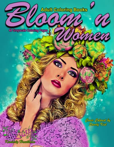 Bloom'n Women adult coloring book