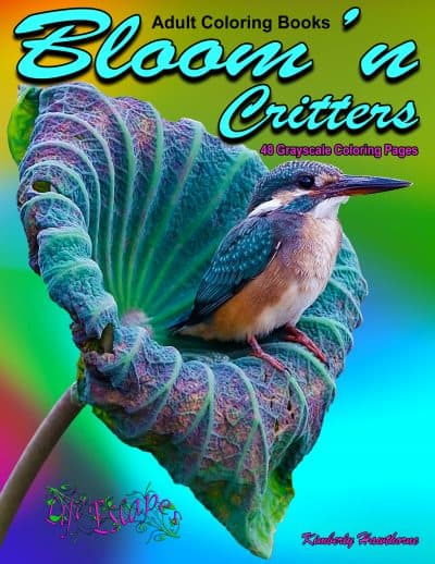 Bloomn Critters adult coloring book