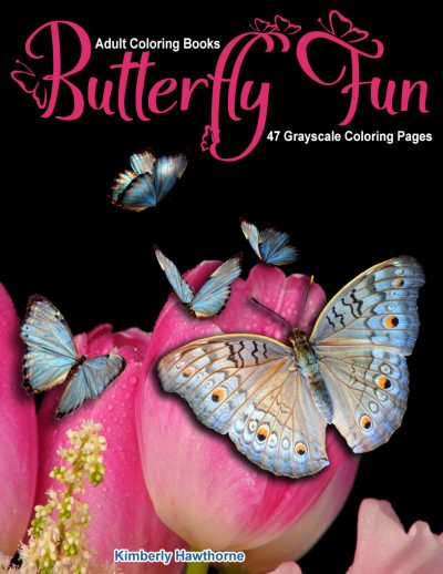 Butterfly Fun adult coloring book