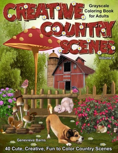 Creative Country Scenes Coloring Book for Adults