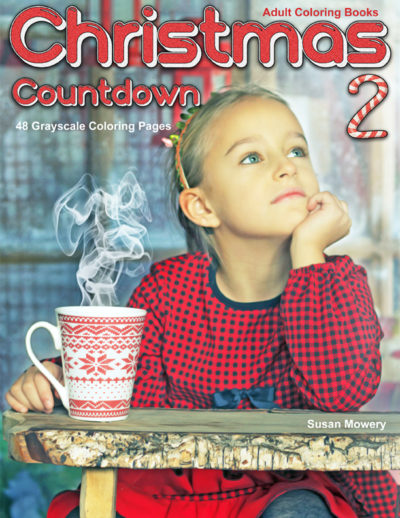 Christmas Countdown 2 grayscale coloring book