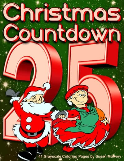 Christmas Countdown adult coloring book