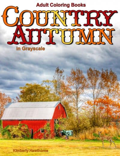 Country Autumn adult coloring book