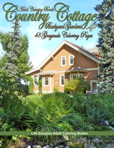 Country Cottage 4 adult coloring book