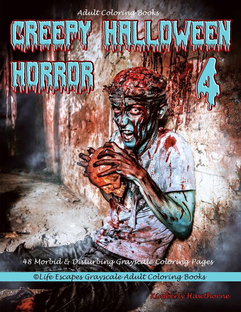 Creepy Halloween Horror 4 adult coloring book