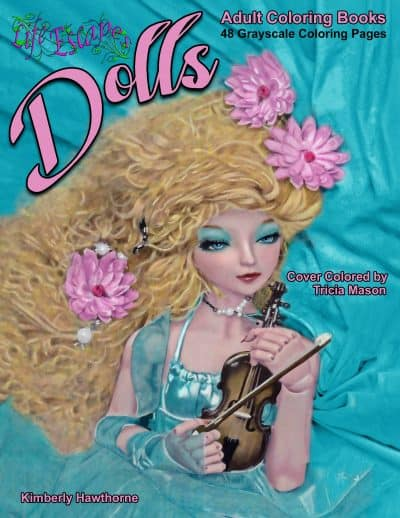 Dolls adult coloring book