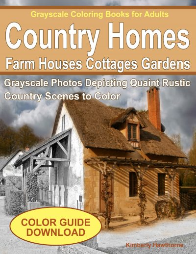 Country Homes adult coloring book