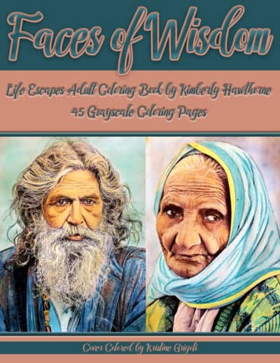 Faces of Wisdom adult coloring book