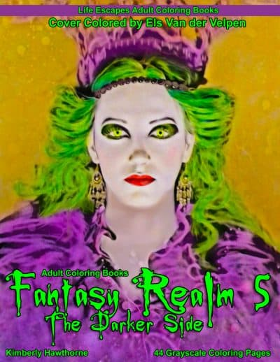 Fantasy Realm 5 the Darker Side Adult Coloring Book