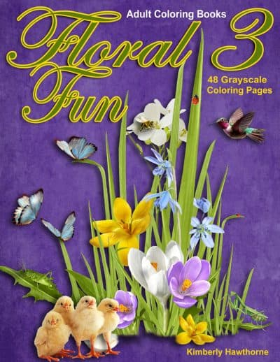 Floral Fun 3 adult coloring book