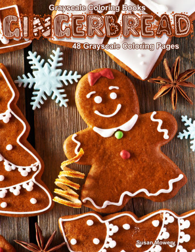 Gingerbread grayscale coloring book pdf