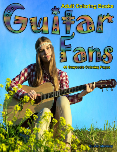 Guitar Fans Adult Coloring Book PDF