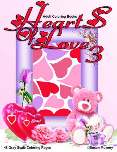 Hearts of Love 3 coloring book for adults pdf