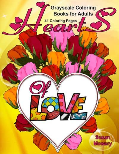 Hearts of Love Adult Coloring Books