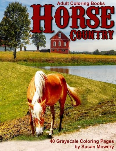 Horse Country adult coloring book