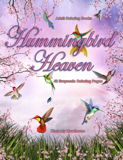 Hummingbird Heaven adult coloring book pdf
