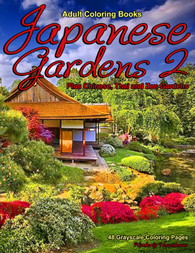 Japanese Gardens 2 adult coloring book pdf