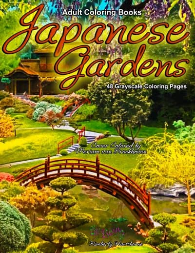 Japanese Gardens adult coloring book