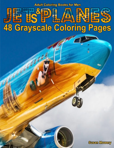 Jets & Planes adult coloring book for men pdf