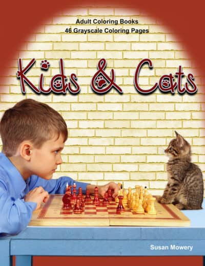 Kids & Cats adult coloring book pdf