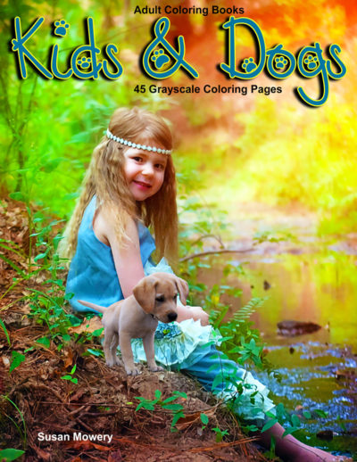 Kids & Dogs adult coloring book pdf