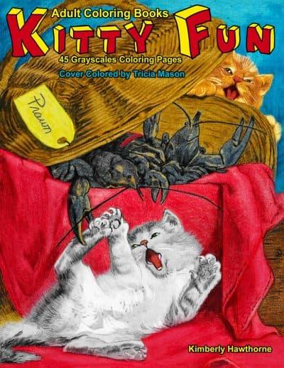 Kitty Fun adult coloring book
