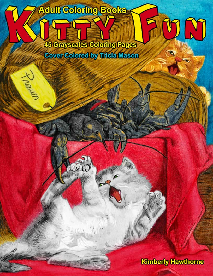 Kitty Fun Adult Coloring Book   Adult Coloring Books from Life Escapes