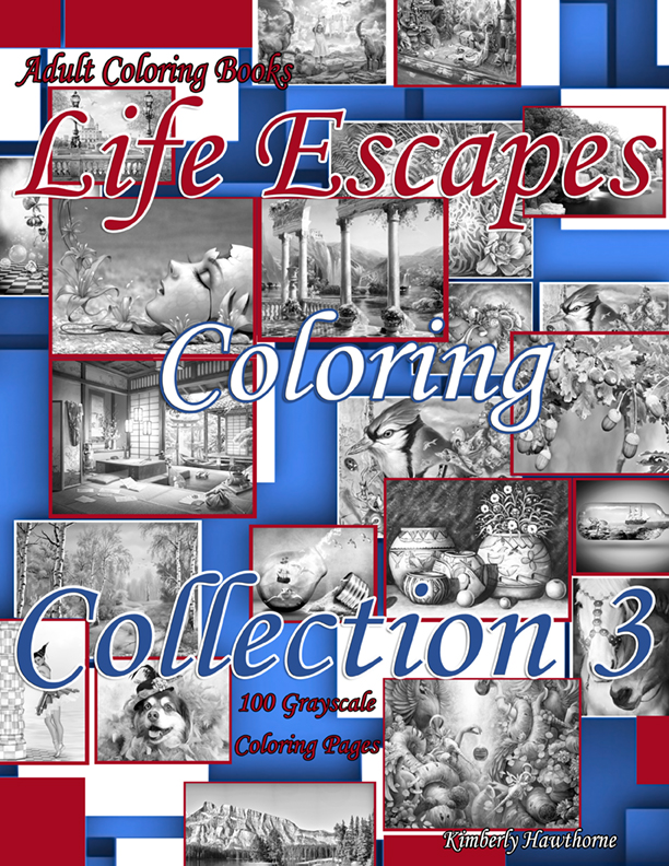 LECC 3 grayscale coloring book