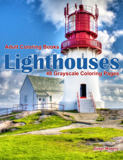 Lighthouses adult coloring books pdf