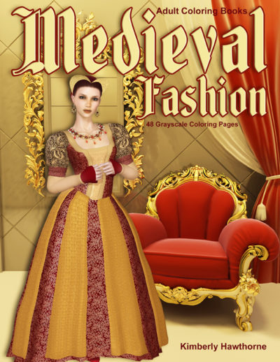 Medieval Fashion Adult Coloring Book PDF