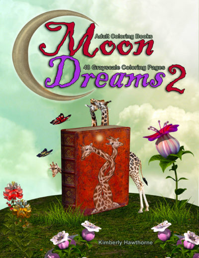 Moon Dreams 2 coloring book for adults
