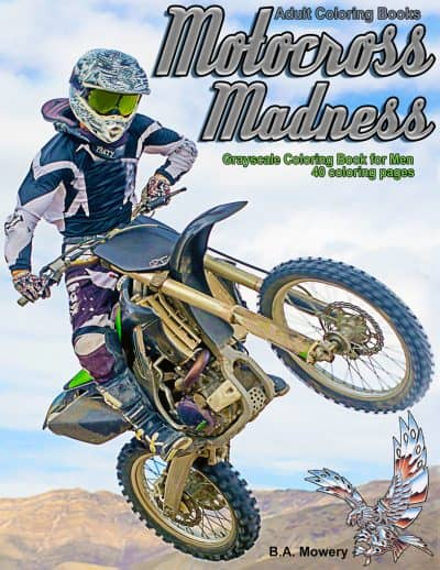 Motocross Madness coloring book for men