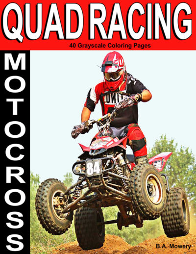 Motocross Quad Racing adult coloring books for men