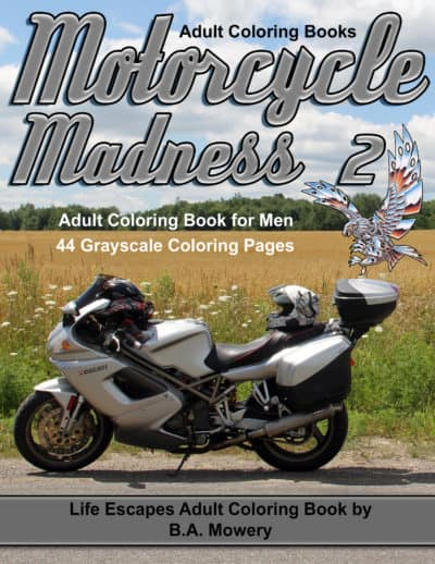 Motorcycle Madness 2 coloring book for men