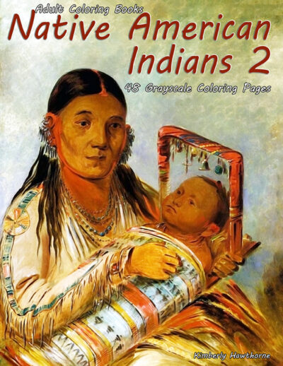Native American Indians 2 grayscale coloring book